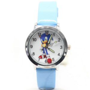 2018 Cute 3D Cartoon Lovely Kids Girls Boys Children Students sonic Quartz Wrist Watch Very Popular watches