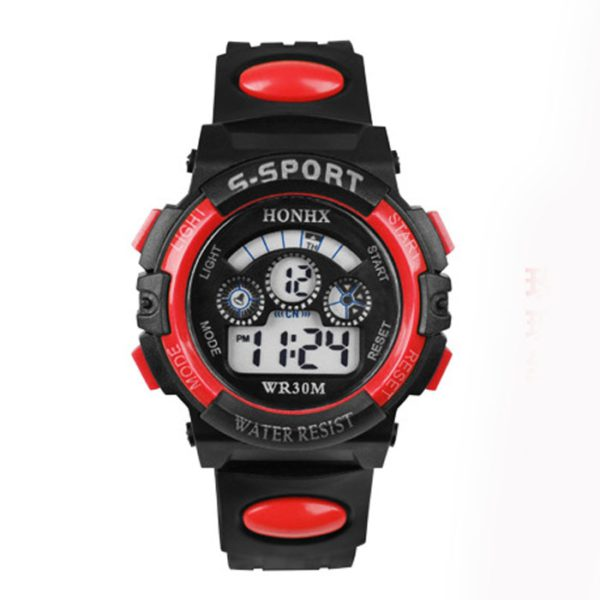 Hot Sale Waterproof Children Watch Boys Girls LED Digital Sports Watches Silicone Rubber watch kids Casual Watch Gift 533
