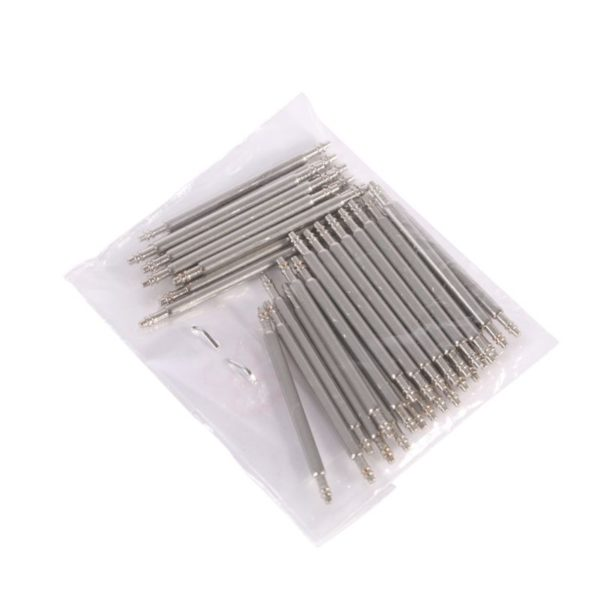 20pcs/pack 12-26mm Stainless Steel Watch Band Spring Bars Pins Repair Watchmaker Link Pins Remove Tools For Watch Accessories